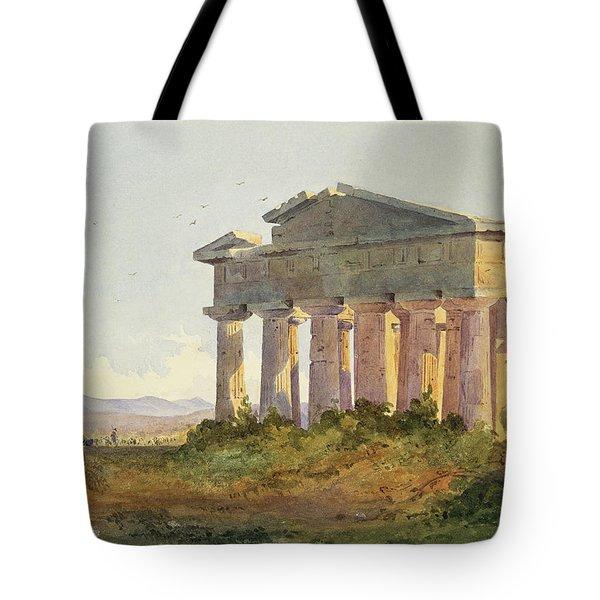 Landscape At Paestum Tote Bag by Arthur Glennie