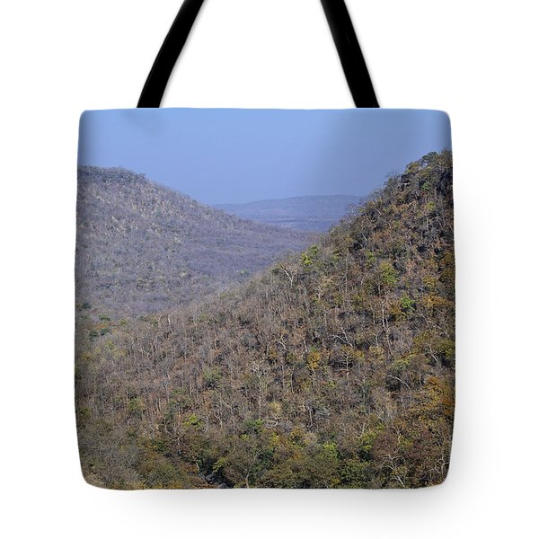 Landscape At Panna National Park In India Tote Bag by Robert Preston