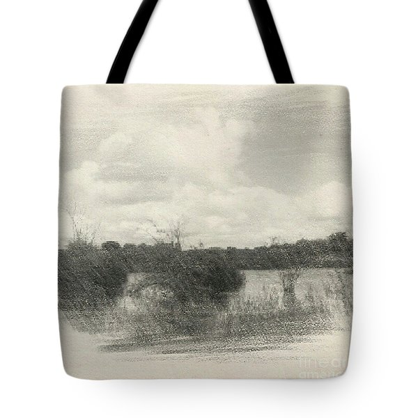 Landscape In Patches Tote Bag