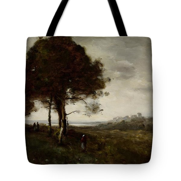 Landscape Tote Bag by Jean Baptiste Camille Corot