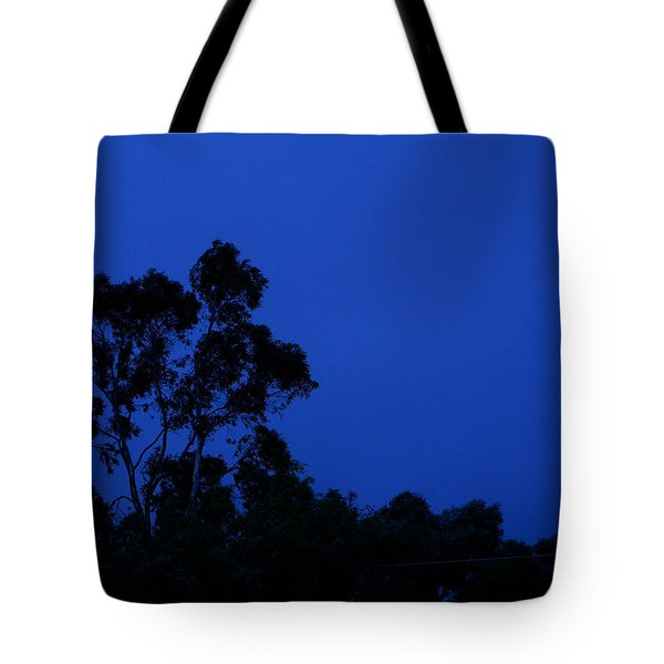 Tote Bag featuring the photograph Blue Landscape by Mark Blauhoefer