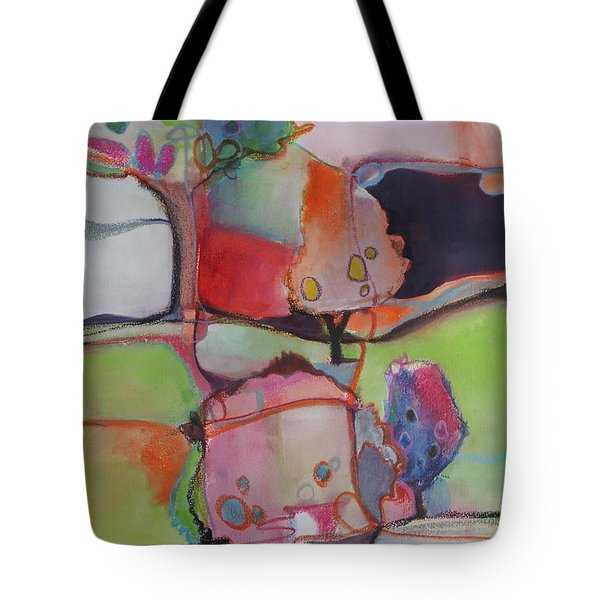 Tote Bag featuring the painting Landscape by Michelle Abrams