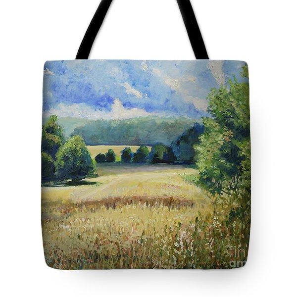 Landscape Near Russian Border Tote Bag
