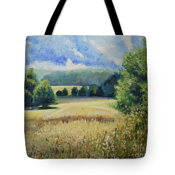 Landscape Near Russian Border Tote Bag