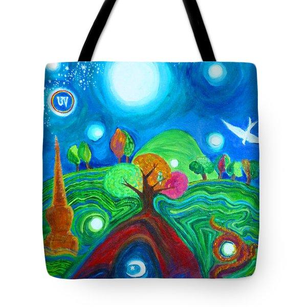 Landscape Of Ancient Dreams Tote Bag