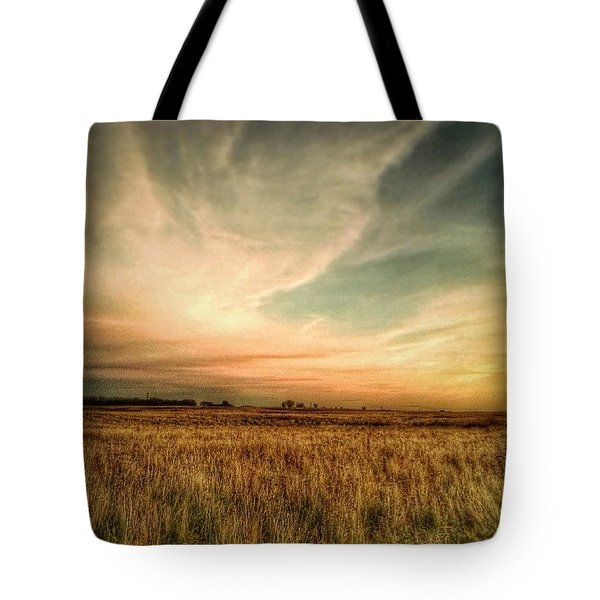 #landscape #skyscape #rural #fields Tote Bag