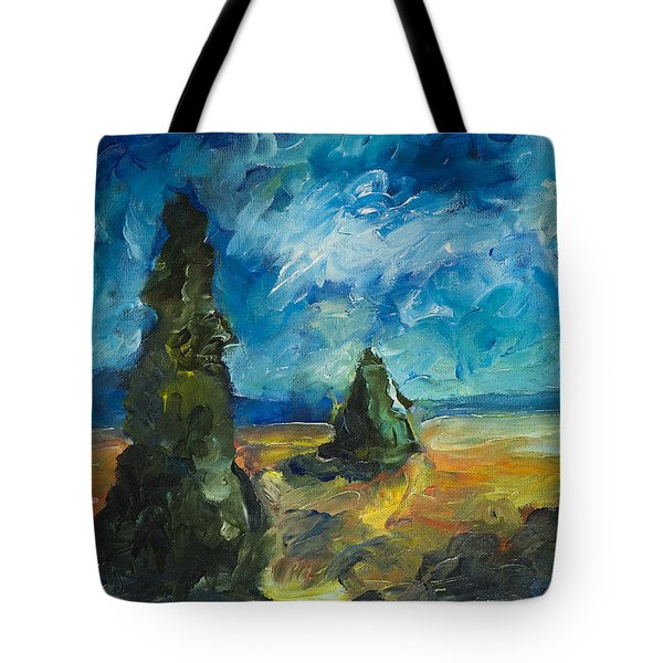 Emerald Spires Tote Bag