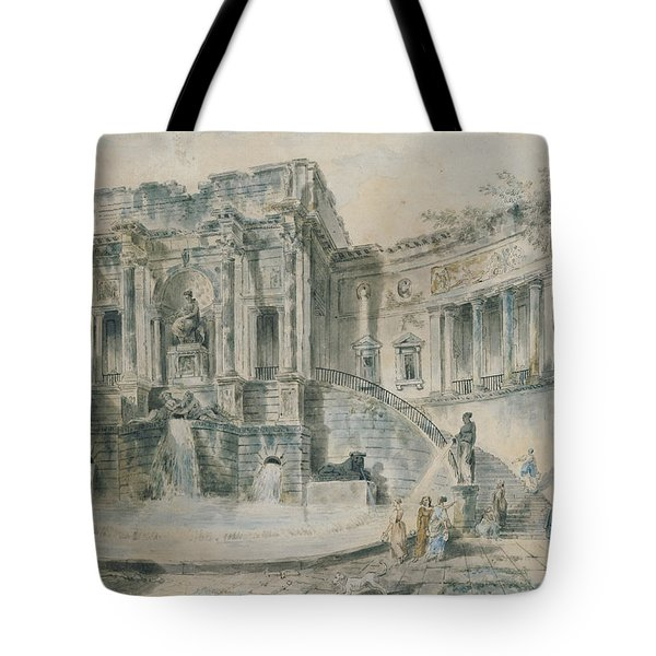 Landscape With Ruins Watercolour Tote Bag