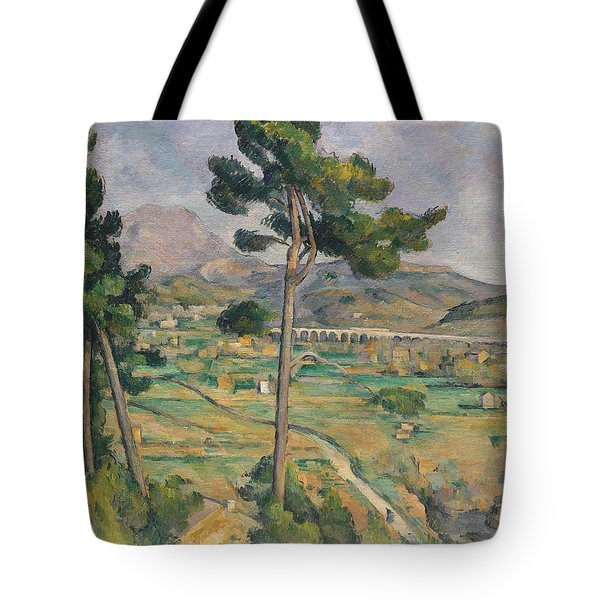 Landscape With Viaduct Tote Bag by Paul Cezanne