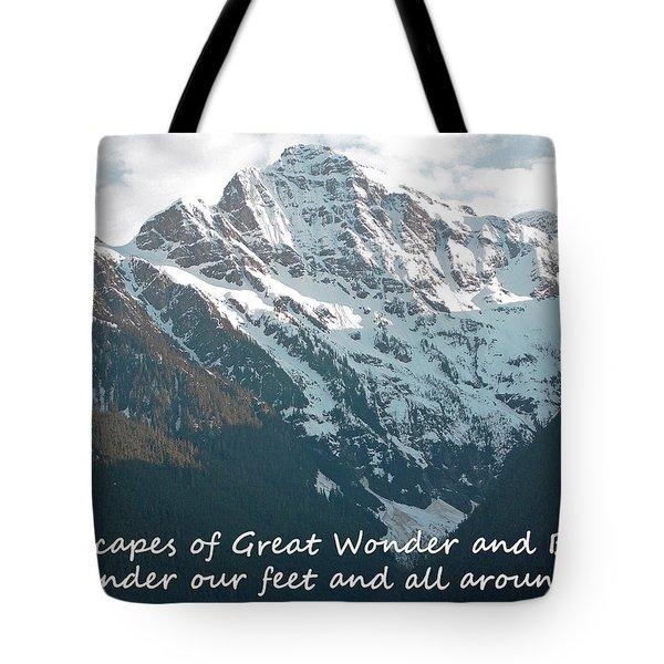 Landscapes Of Great Wonder  Tote Bag