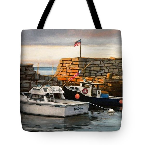 Lanes Cove Fishing Boats Tote Bag