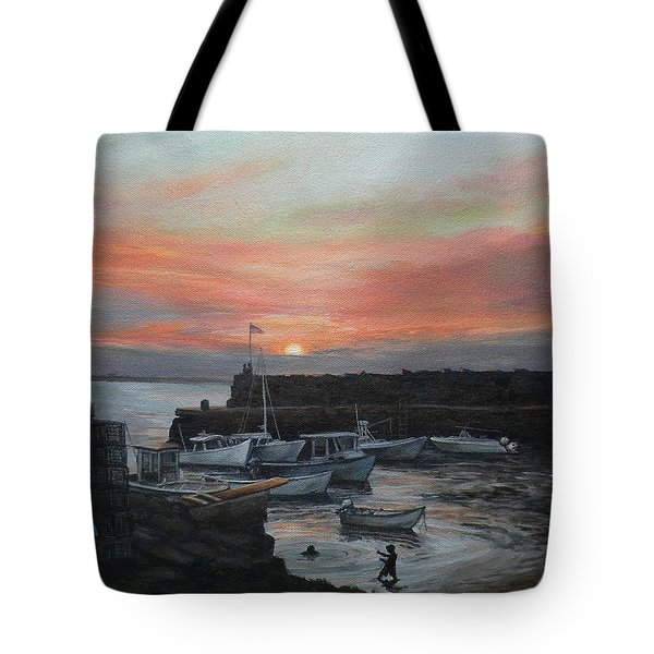 Lanes Cove Sunset Tote Bag