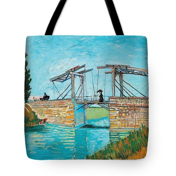 Langlois Bridge At Arles Tote Bag by Vincent van Gogh