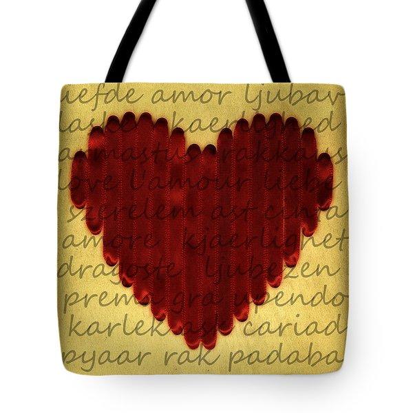 Languages Of Love Tote Bag