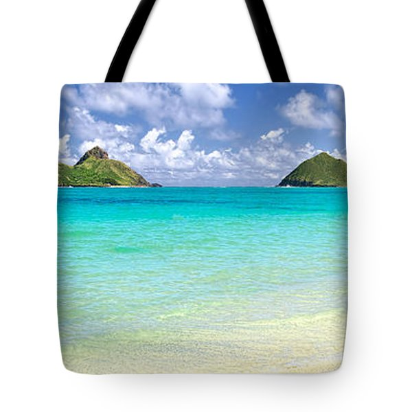 Lanikai Beach Paradise 3 To 1 Aspect Ratio Tote Bag