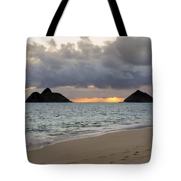 Lanikai Beach Sunrise 4 - Kailua Oahu Hawaii Tote Bag by Brian Harig