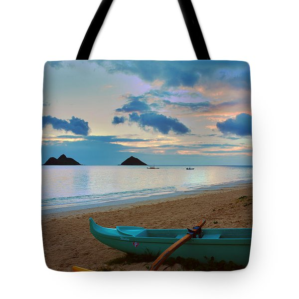 Lanikai Beach Sunrise 6 - Kailua Oahu Hawaii Tote Bag by Brian Harig