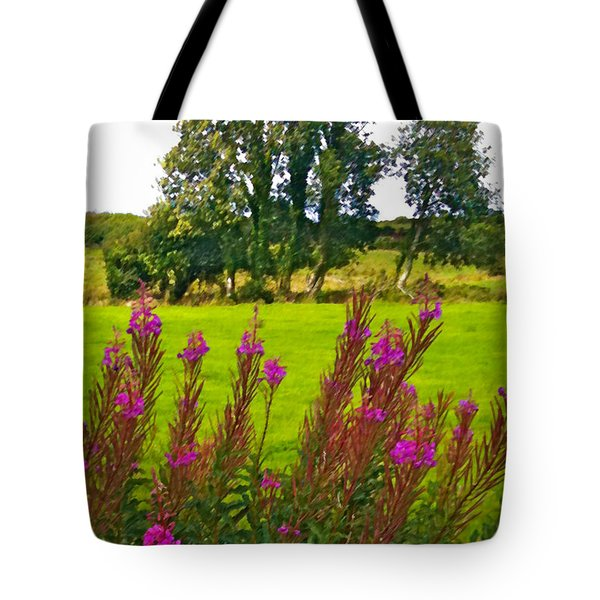 Lanna Fireweeds County Clare Ireland Tote Bag