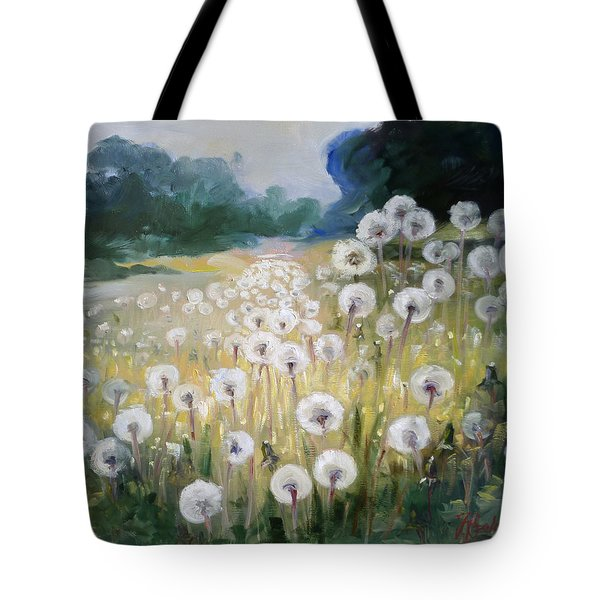 Lanscape With Blow-balls Tote Bag by Irek Szelag