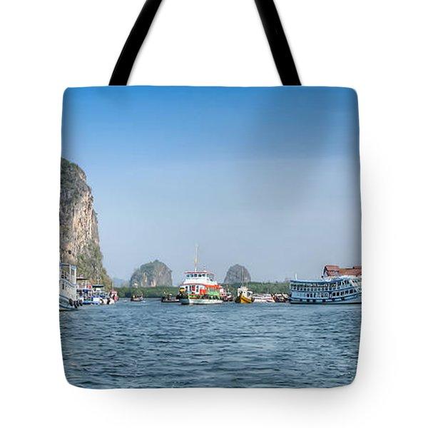 Lanta Island Dock Tote Bag by Adrian Evans