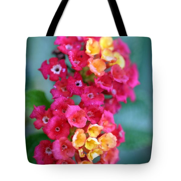 Tote Bag featuring the photograph Lantana by Henrik Lehnerer