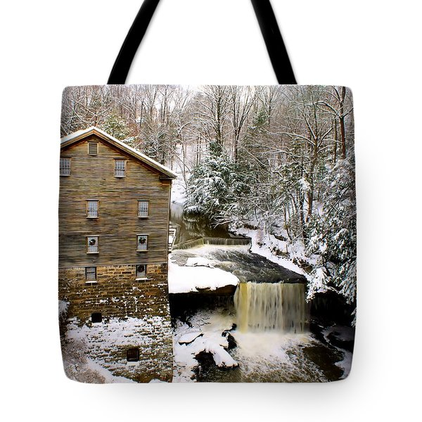 Lanterman's Mill In Winter Tote Bag