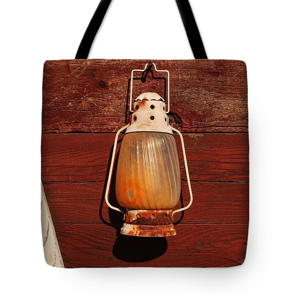 Lantern On Red Tote Bag by Art Block Collections