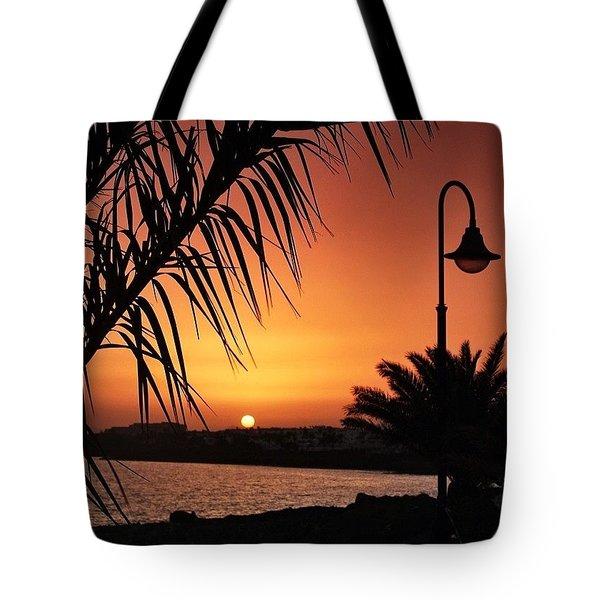 Lanzarote Sunset Tote Bag