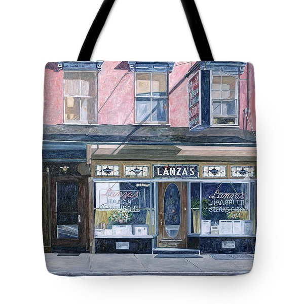 Lanza's Restaurant 11th Street East Village Tote Bag by Anthony Butera