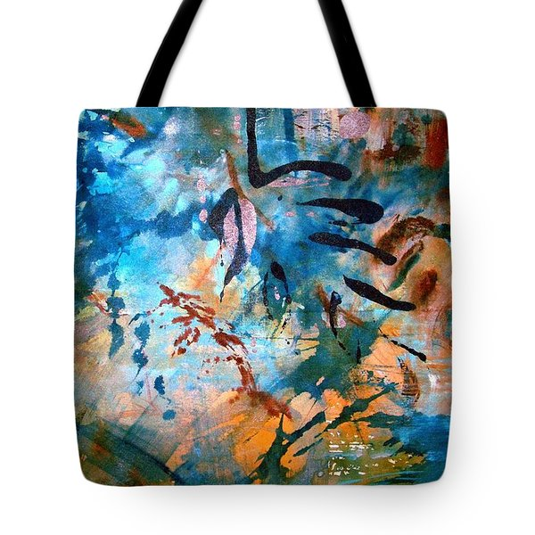 Lapis Leaves Tote Bag by Mary Schiros