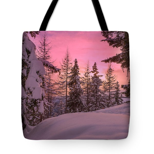 Lapland Sunset Tote Bag