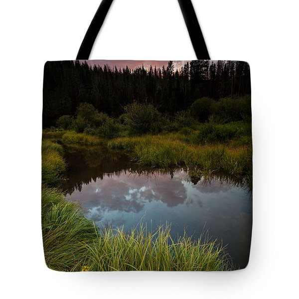 Laramie River Sunset Tote Bag