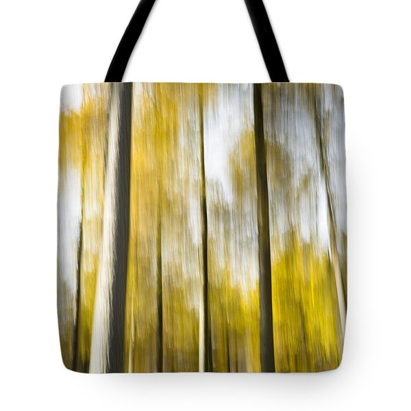 Larch In Abstract Tote Bag by Anne Gilbert