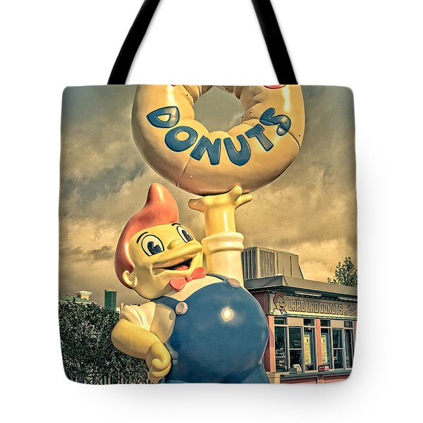 Tote Bag featuring the photograph Lard Lad Donuts by Edward Fielding