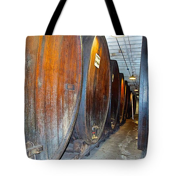 Large Barrels At Korbel Winery In Russian River Valley-ca Tote Bag
