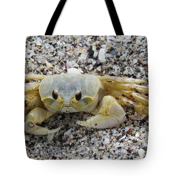 Tote Bag featuring the photograph Ghost Crab by Cynthia Guinn