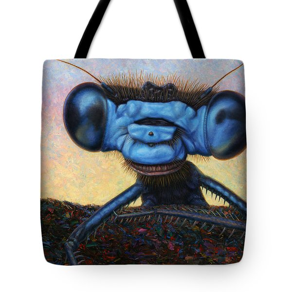 Large Damselfly Tote Bag by James W Johnson