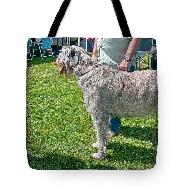 Large Irish Wolfhound Dog  Tote Bag