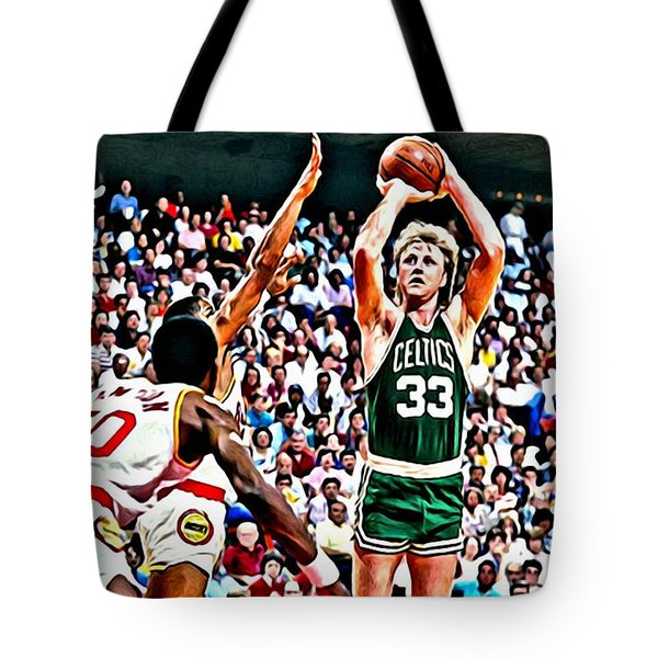 Larry Bird Tote Bag by Florian Rodarte