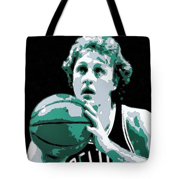Larry Bird Poster Art Tote Bag