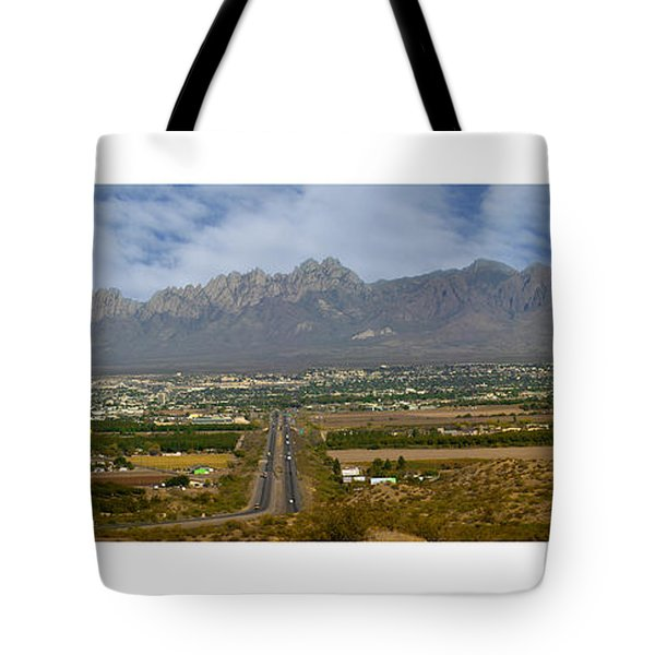 Las Cruces New Mexico Panorama Tote Bag by Jack Pumphrey
