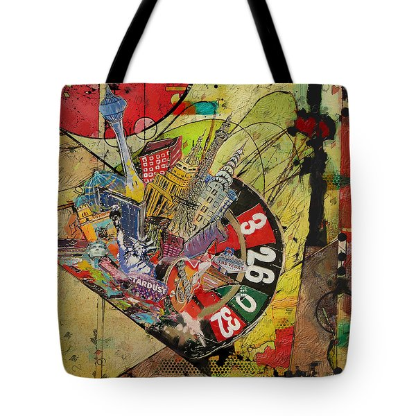 Las Vegas Collage Tote Bag by Corporate Art Task Force