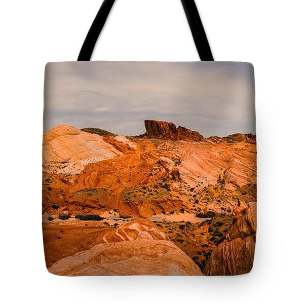 Las Vegas Nevada Mojave Desert Valley Of Fire Panorama Tote Bag