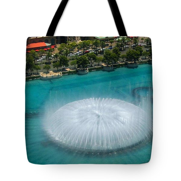 Tote Bag featuring the photograph Las Vegas Orb by Angela J Wright