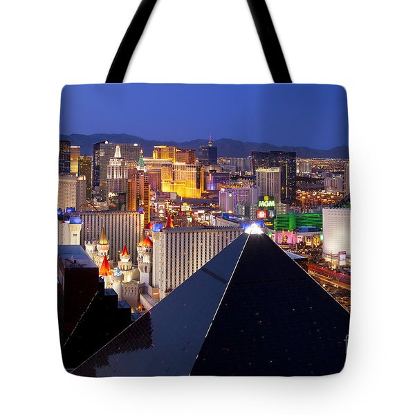 Las Vegas Skyline Tote Bag by Brian Jannsen