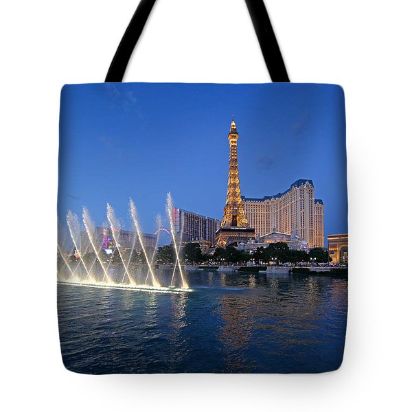Tote Bag featuring the photograph Las Vegas Skyline by Martin Konopacki