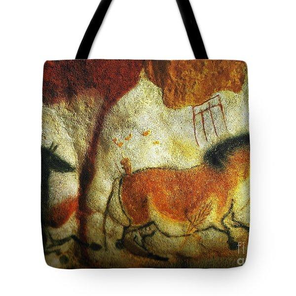 Lascaux II No. 6 - Horizontal Tote Bag by Jacqueline M Lewis