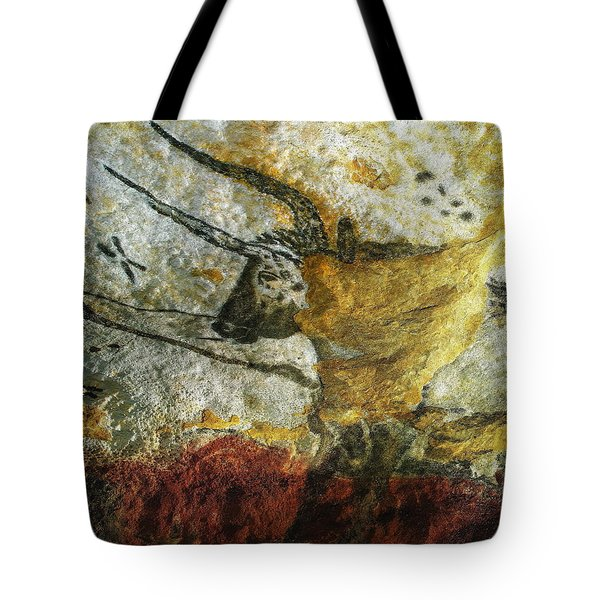 Lascaux II Number 3 - Vertical Tote Bag by Jacqueline M Lewis