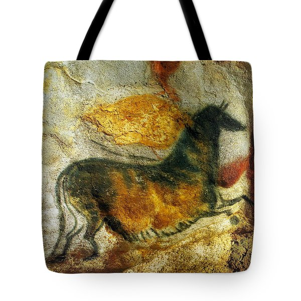 Tote Bag featuring the photograph Lascaux II Number 4 - Vertical by Jacqueline M Lewis
