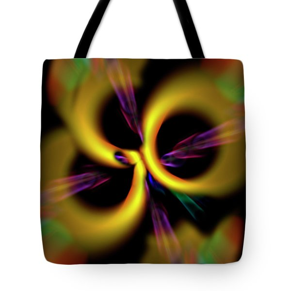 Laser Lights Abstract Tote Bag